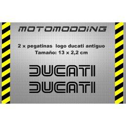 Pegatina moto Ducati Logotipo clásico