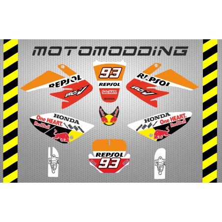 Kit pegatinas malcor racer repsol Marc Marquez HONDA CRF70