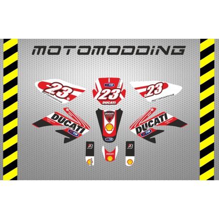 Pegatinas Pit bikes Malcor Racer Ducati