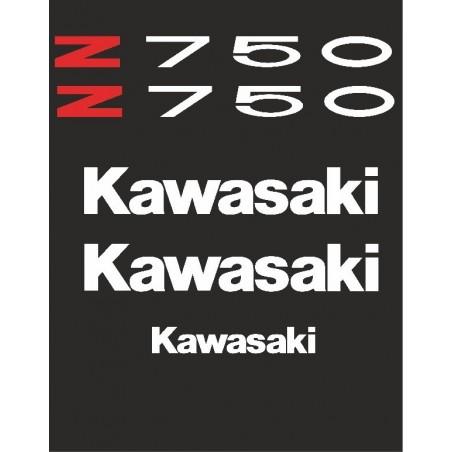 Pegatinas para motos kawasaki Z750
