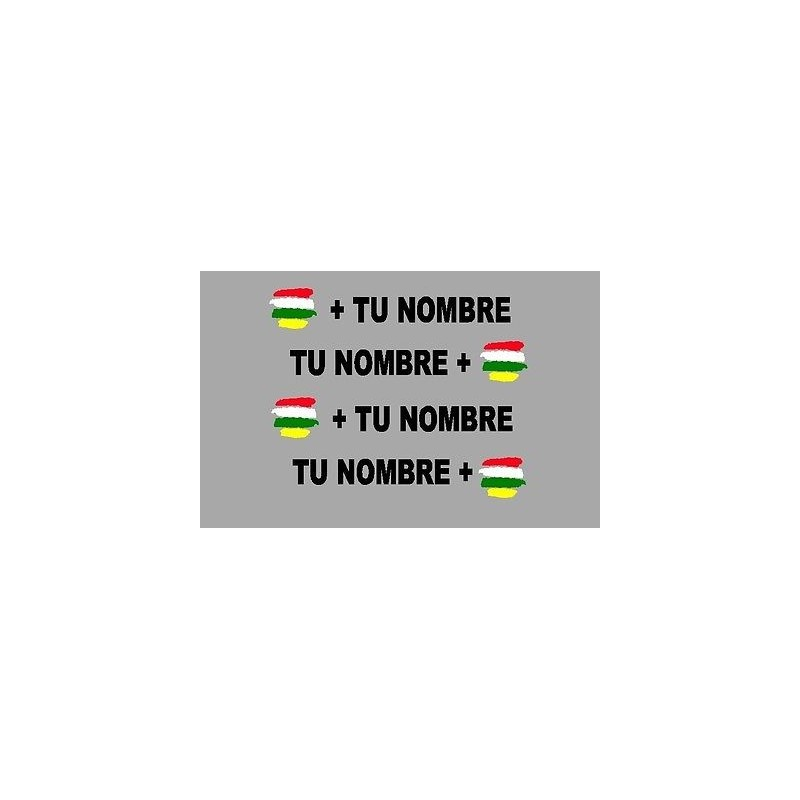Bandera La Rioja + tu nombre pegatinas vinilos stickers adhesivo 2 espejo