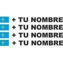 Bandera Asturias más tu nombre pegatinas vinilos