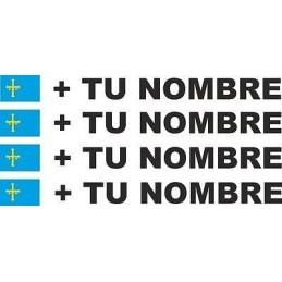 Pegatina bandera más nombre ASTURIAS