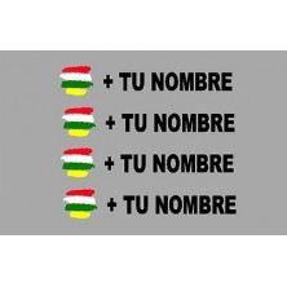 Pegatina bandera más nombre LA RIOJA