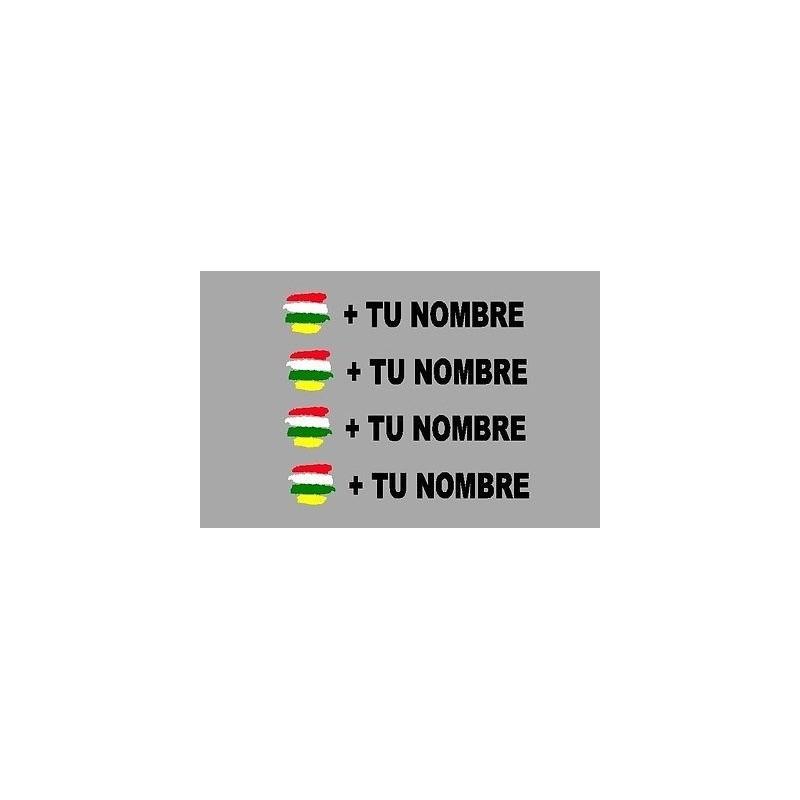 Bandera la rioja m s tu nombre pegatinas vinilos stickers for Pegatinas pared nombres