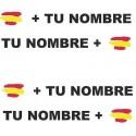 Bandera España mas tu nombre