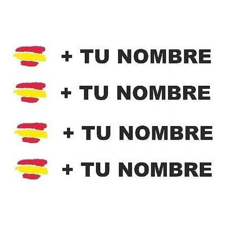 Bandera España más tu nombre