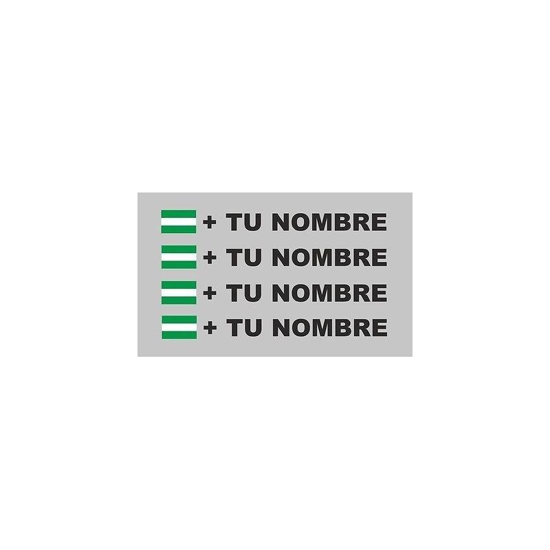 Bandera Andalucía mas tu nombre