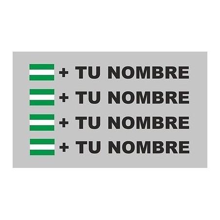 Bandera Andalucía mas tu nombre pegatinas vinilos adhesivos stickers rotulos