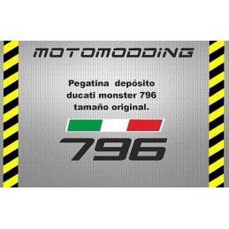 Pegatina depósito Ducati monster 796