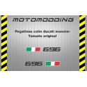Pegatinas colín Ducati monster 696
