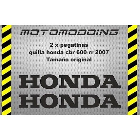 Pegatinas quilla Honda cbr 600 RR 2007