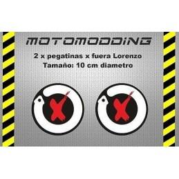 Pegatinas logotipo Jorge Lorenzo