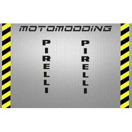 Pegatinas pirelli para guardabarros moto
