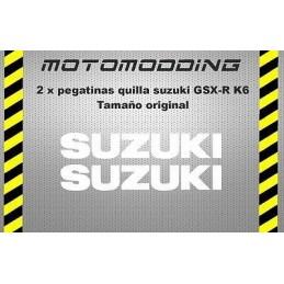 Pegatinas quilla Suzuki gsxr 600 K6