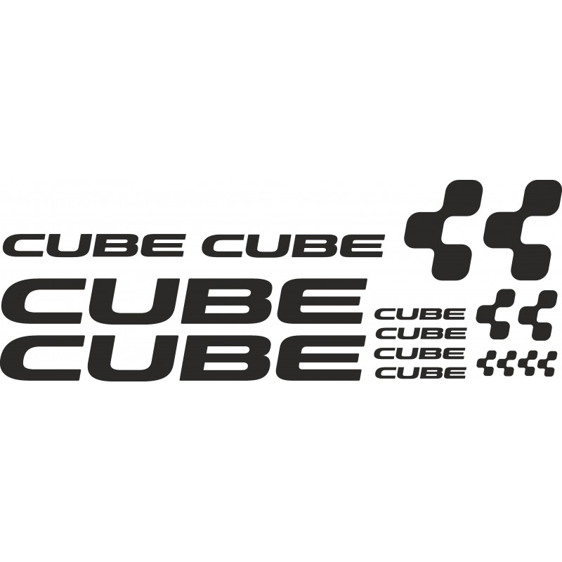 Pegatinas para bicis cube, kit con varios tamaños.
