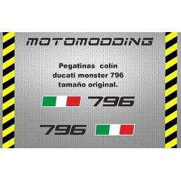 Pegatinas colín Ducati monster 796