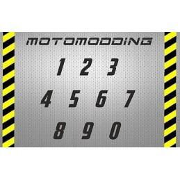 Dorsales de moto personalizables del 0 al 99 dorsal