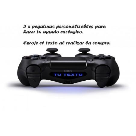 Pegatinas para mando ps4 con nombre personalizable x 3.