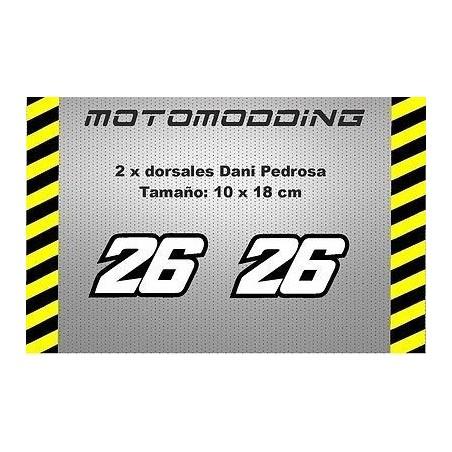 Pegatinas 26 de Dani Pedrosa dorsales