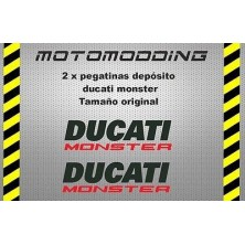 Pegatinas Ducati monster
