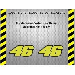 Pegatinas 46 Valentino Rossi dorsales