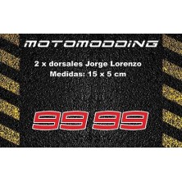 2 pegatinas 99 Jorge Lorenzo dorsales