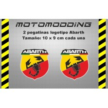 2 x pegatinas logotipo abarth stickers