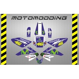 Kit pegatinas malcor racer yamaha Valentino Rossi HONDA CRF70