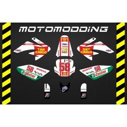Kit pegatinas malcor racer San Carlo Marco Simoncelli HONDA CRF70