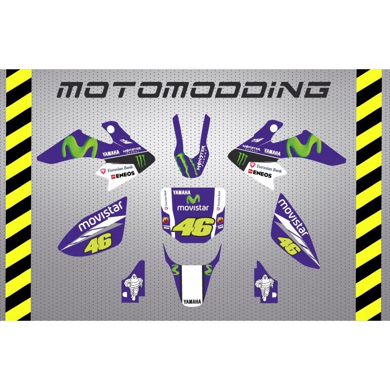 Kit pegatinas crf50 yamaha Valentino Rossi réplica