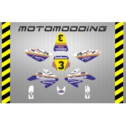 Kit pegatinas malcor racer HONDA rothmans réplica CRF70