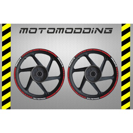 Pegatinas llantas moto Ducati Multistrada