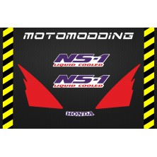 Pegatinas carenado frontal honda NS-1 ns1