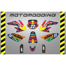 Pegatinas KTM moto-gp réplica HONDA CRF70 Malcor Racer