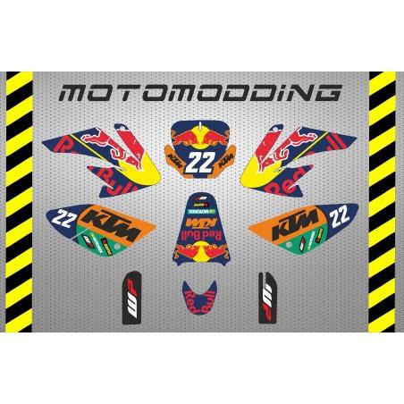 Kit pegatinas KTM motogp réplica HONDA CRF70 malcor racer