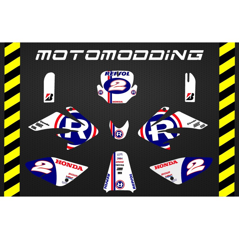 Kit pegatinas aniversario repsol honda motogp réplica HONDA CRF70 malcor racer