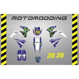 Kit pegatinas Malcor super racer réplica Valentino Rossi