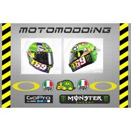Pegatinas visera Valentino Rossi