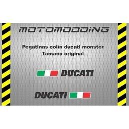 Pegatinas colín Ducati monster
