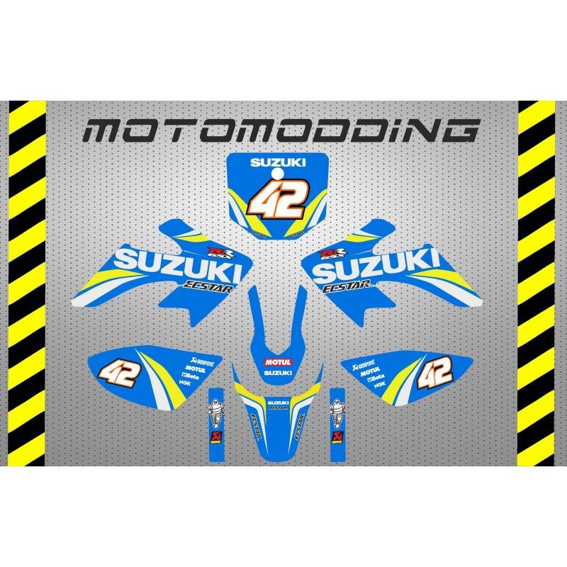 Pegatinas pit bike pit motard réplica suzuki motogp 2019 Alex Rins