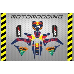 Pegatinas pit bike malcor super racer ktm motogp réplica