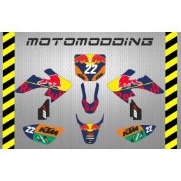 Kit pegatinas KTM motogp réplica HONDA CRF50 imr corse